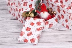 Набор подарочных коробок из 10шт - Прямоугольник НГ Подарки красные 37*29*16см  N135