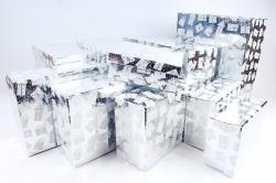 Набор подарочных коробок из 10шт - Прямоугольник НГ Подарки на серебре N35