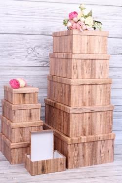 """Набор подарочных коробок из 10шт - Прямоугольник """"Паркет"""" 37*29*16см К251"""