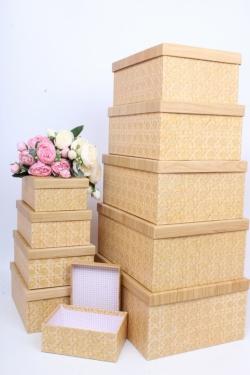 """Набор подарочных коробок из 10шт - Прямоугольник """"Плетенье 2"""" 37*29*16см SY605-1803"""