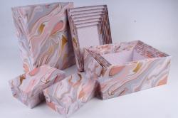 """Набор подарочных коробок из 10шт - Прямоугольник """"Розовый оникс """"  SY605-1723"""