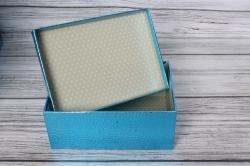 """Набор подарочных коробок из 10шт - Прямоугольник """"Синий"""" 37*29*16см SY605-BLUE"""