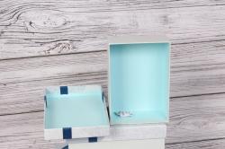 Набор подарочных коробок из 3шт - Прямоугольник светло/серый 21*16*9см В491