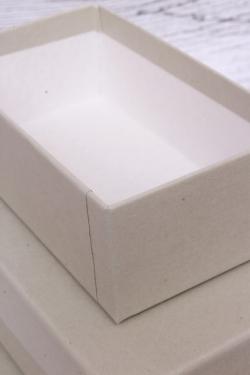 Набор подарочных коробок из 3шт - Прямоугольник  РР23 Люкс Серый 15,5см*9см*5.6см РР23/Люкс/СС
