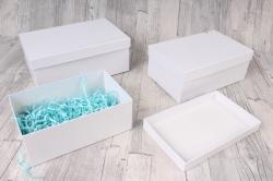 Набор подарочных коробок из 3шт - Прямоугоник №74 Белый 23*16*9,5см   Пин74-ФБел