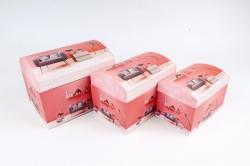 Набор подарочных коробок из 3шт - СУНДУЧЕК  SY3011-1759 (М)