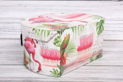 """Набор подарочных коробок из 3шт - СУНДУЧЕК  """"Фламинго"""" 27,2*23*14см  SY3007-343"""