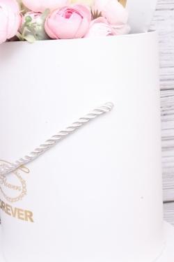 Набор подарочных коробок из 3шт- Цилиндр золотой фонарь белый d=24, h=26см Т424