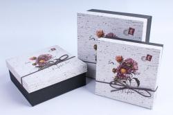Набор подарочных коробок из 3шт- Квадрат Астра