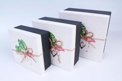 Набор подарочных коробок из 3шт- Квадрат с Фламинго Р148
