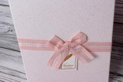 Набор подарочных коробок из 3шт -  Прямоугольник Кружева розовый 25*17*12см В507