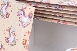 Набор подарочных коробок из 10шт -  Прямоугольник Лошадки   К793