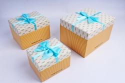 Набор подарочных коробок из 3шт- Прямоугольник Оливки мелкие  Н52