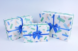 Набор подарочных коробок из 3шт- Прямоугольник Прямоугольники разноцветные
