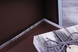 Набор подарочных коробок из 3шт- Прямоугольник разводы черный  Р142