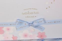 Набор подарочных коробок из 3шт -  Прямоугольник Сакура синий 32*24*11см  В523