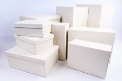 Набор подарочных коробок из 10шт -  Прямоугольник шампань  К309
