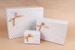 Набор подарочных коробок из 3шт- Прямоугольник Звездопад  К738