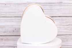 """Набор подарочных коробок из 3шт- Сердце """"Для тебя"""" белое   d=27*27, h=15см Т415"""