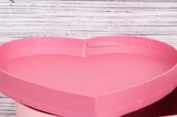 Набор подарочных коробок из 3шт- Сердце Стрекозы с объемными крыльями розовое  d=28*23, h=15см Т430