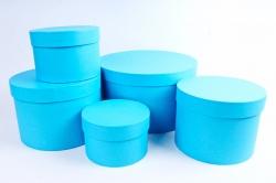 Набор подарочных коробок из 5шт-Цилиндр Голубой Пин85Гол