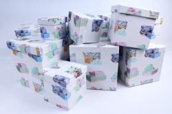Набор подарочных коробок  из 10 шт - КУБ Домашний уют   SY601-1340