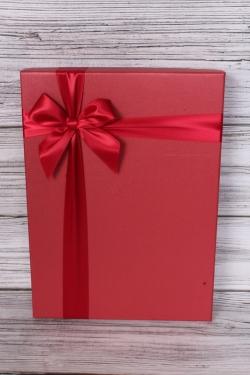 Набор подарочных коробок  из 2 шт - Прямоугольник  Под рубашку красная  крышка 38*27*17 Н26