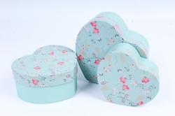 Набор подарочных коробок  из 3 шт - Сердце W9782  (М)