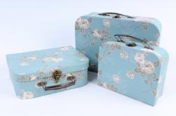 Набор подарочных коробок  из 3 шт - Сундучок    W9550  (М)