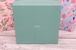 Набор подарочных коробок  из 3шт - Квадрат Цветы расписные 24*24*11