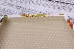 Набор подарочных коробок  из 3шт - Квадрат Экзотические листья 24*24*11