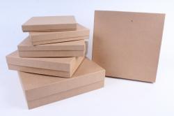 Набор подарочных коробок  из 6шт - Квадрат КРАФТ Пав4-К