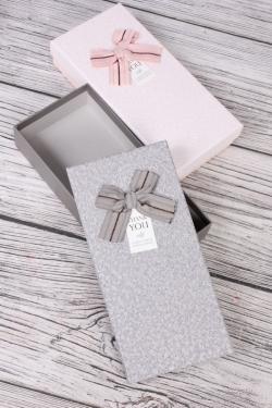 Набор подарочных одиночных коробок из 2 шт - Прямоугольник Паутинка 11*21*4см В734