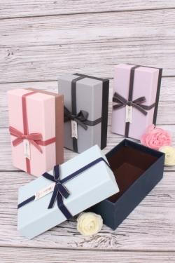Набор подарочных одиночных  коробок (4шт в уп) - Прямоугольники пастель 15*9*6см  В196