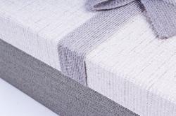 Набор подарочный коробок из 3шт - Прямоугольник серый Р126
