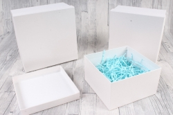 Набор подарочныз коробок из 3шт - Квадрат № 75 Белый 19,5см*19,5см*11см  Пин75-БЛ