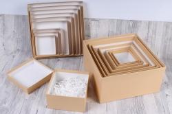 Набор подарочныз коробок из 10шт - Квадрат № 71 Карамель КТ 28,2см*28,2см*15см  Пин71Кар