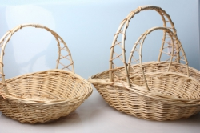Набор разноразмерных плетеных корзин ива 2923