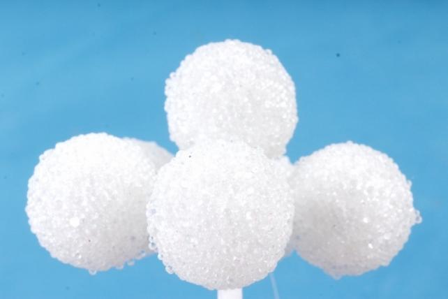 Набор шариков засахаренных на вставках 6шт, , белый  KFQ6307Wh  (А)