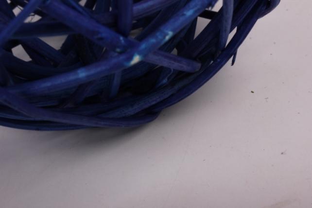 набор шаров плетеных (ротанг) 6шт., d10см, синий