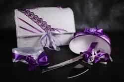 Набор свадебный 5 предметов (фиолетовый) 51010