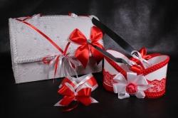 Набор свадебный 5 предметов (красный) 51010