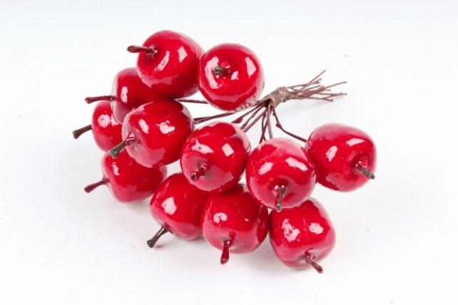 Набор яблок на вставках 12шт.,  красный KFG09-8197 (А)