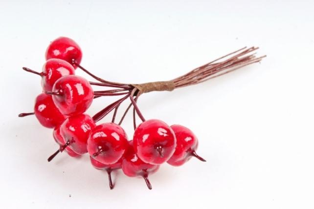 Набор яблок на вставках 12шт.,  красный KFQ5308 (А)