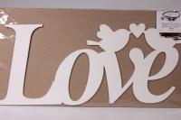"Надпись ""Love"" с птичками 43х20см"