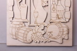 накладка винный погреб, 16х16см, фанера 6мм 108083