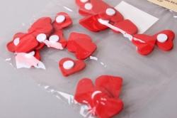 Наклейка Сердце мини красное  (24шт. в упаковке) 1401