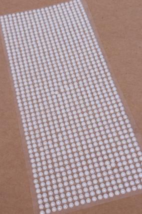 Наклейки на листе 4 мм жемчуг перламутр белый по 1000шт DZ4AB-6