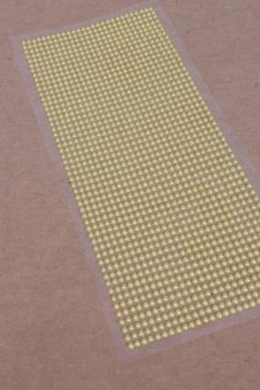 Наклейки на листе 3 мм  жемчуг медовый по 1404шт DZ335