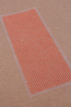 Наклейки на листе 3 мм  жемчуг оранжевый по 1404шт DZ336